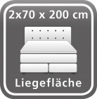 140 x 200 cm (2 Boxen)
