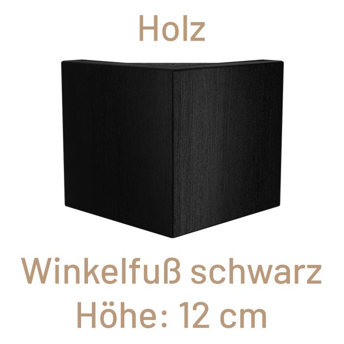 Winkelfuß Holz, schwarz