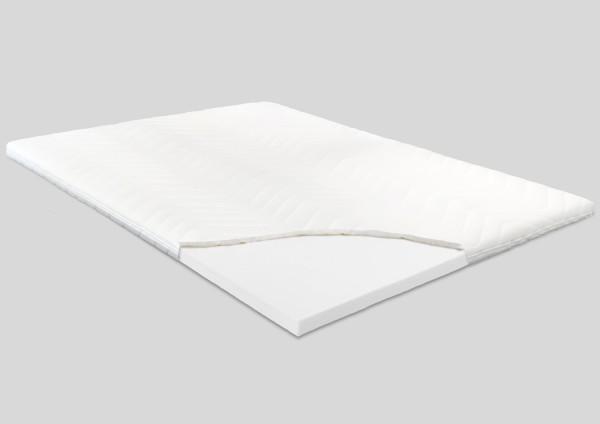 Komfortschaum Topper, 8 cm, Polyester Bezug