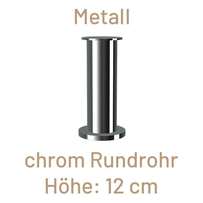 Metallfuß, Rundrohr