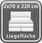 140 x 220 cm (2 Boxen)