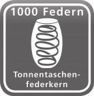 Tonnentaschenfederken mit 1000 Federn