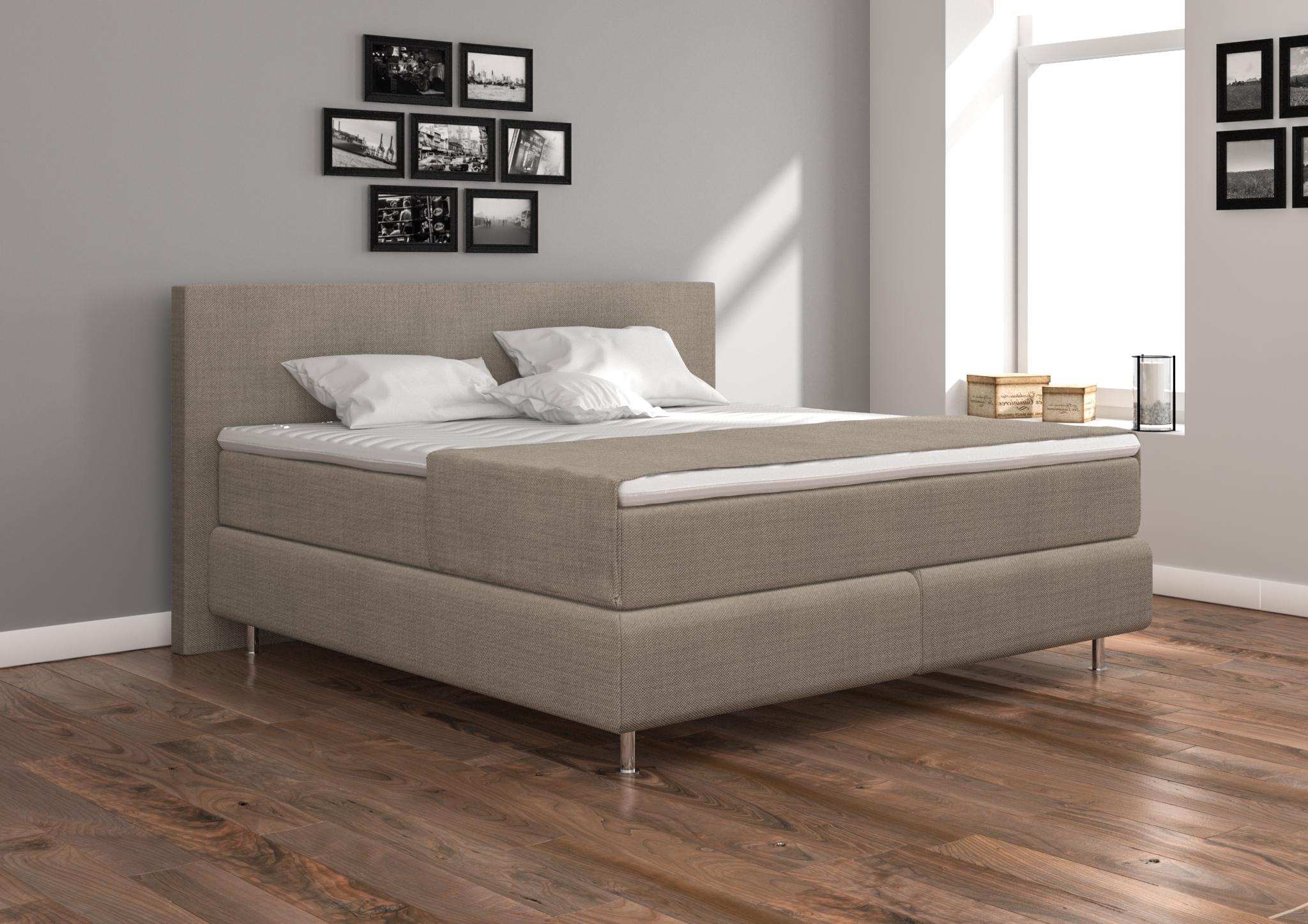 boxspringbett 200x200 g nstig und sofort lieferbar. Black Bedroom Furniture Sets. Home Design Ideas