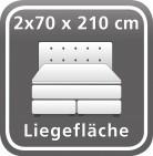 140 x 210 cm (2 Boxen)