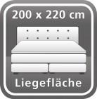 200 x 220 cm
