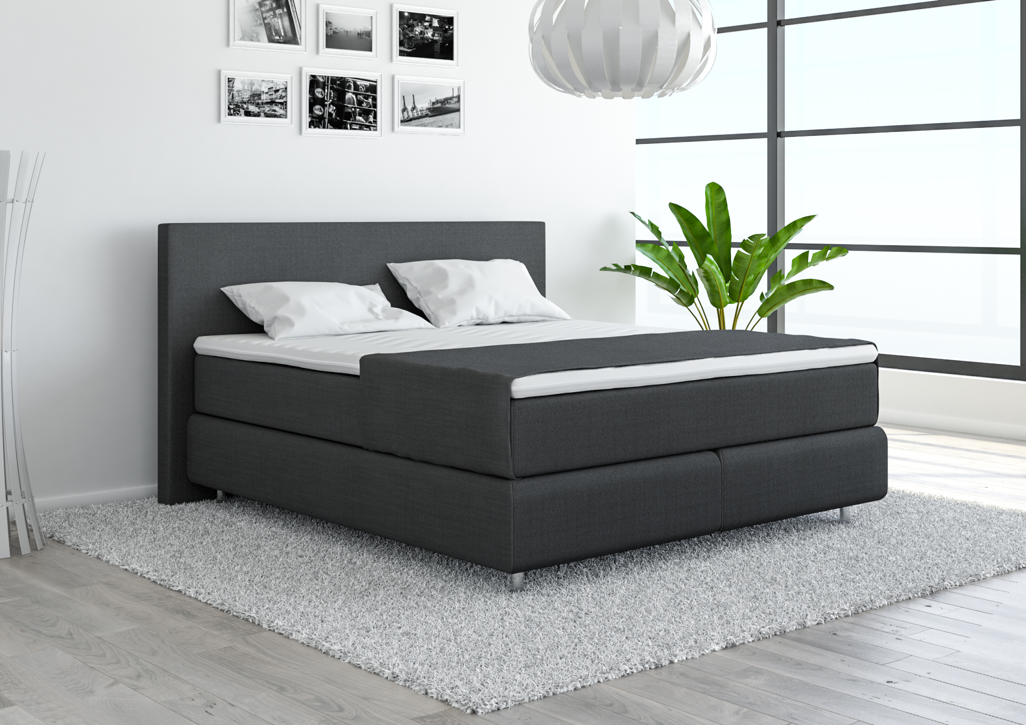 boxspringbett 180x200 g nstig und sofort lieferbar. Black Bedroom Furniture Sets. Home Design Ideas