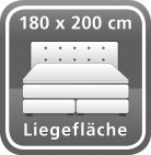180 x 200 cm