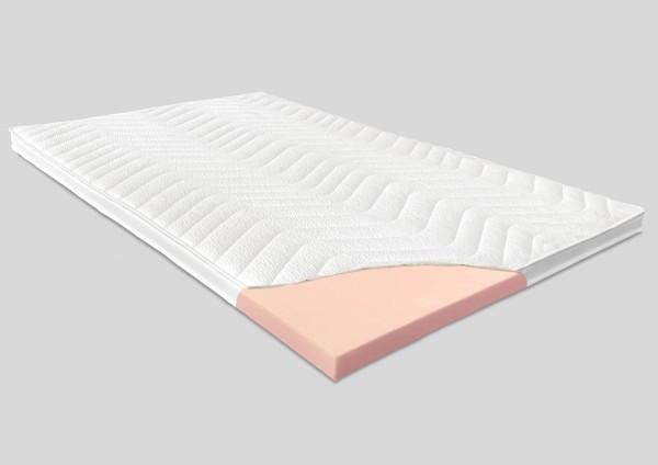 Kaltschaum Topper, 8 cm, Tencel Bezug / Klimaband