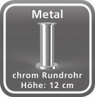 Metalfuß, Rundrohr
