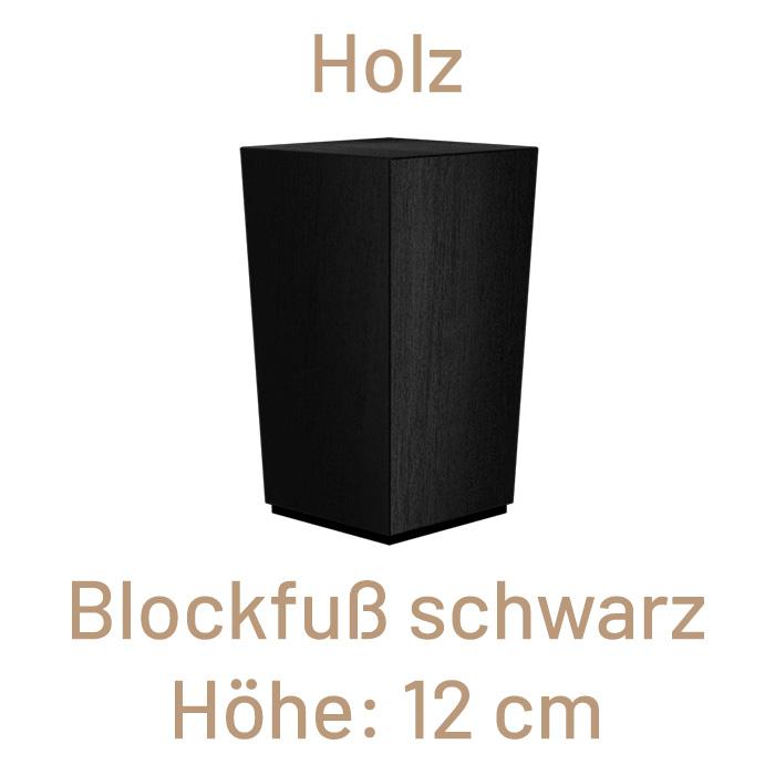 Holz Blockfuß, schwarz