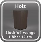 Holz Blockfuß, wenge