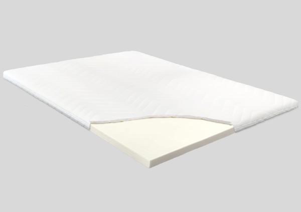 Visco-Gel Topper, 8 cm, Polyester Bezug