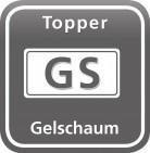 Visco Gel Topper, 8 cm mit Klimaband