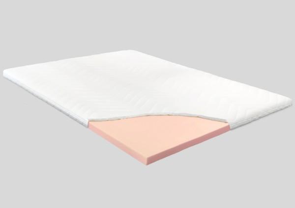 Kaltschaum Topper, 8 cm, Polyester Bezug